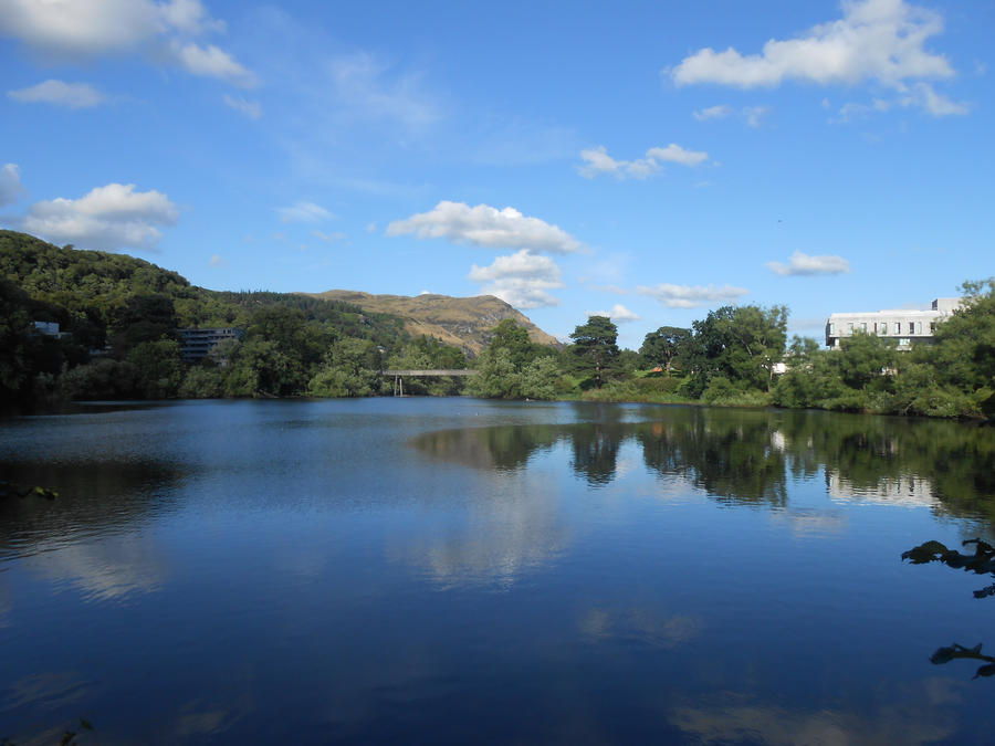 Loch at Stirling University by Art-of-the-Seraphim