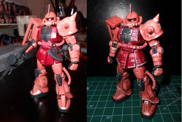 RG MS-06S Zaku II Char Aznable Custom