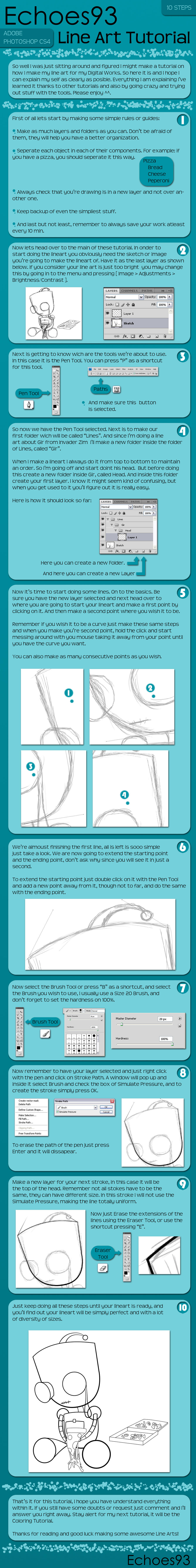 Line Art Tutorial : Line art tutorial echoes by on deviantart