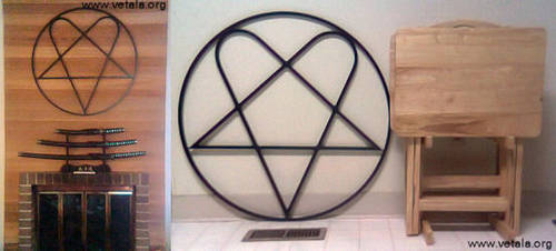 Cast Iron Heartagram by vetala