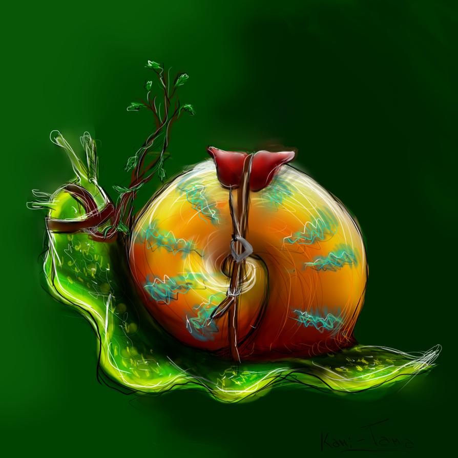 El caracol mutante que es feroz que come jinetes by kami for Caracol de jardin que come