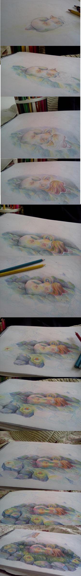 fairy -colour pencils progress by kami-tama