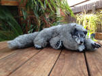 Gray wolf soft-bodied doll