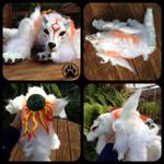 Okami Amaterasu handmade softbodied doll