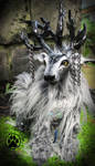 SOLD Merlin the storm rider caribou art doll!