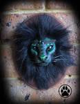 SOLD Forest guardian lion wall art sculpture.