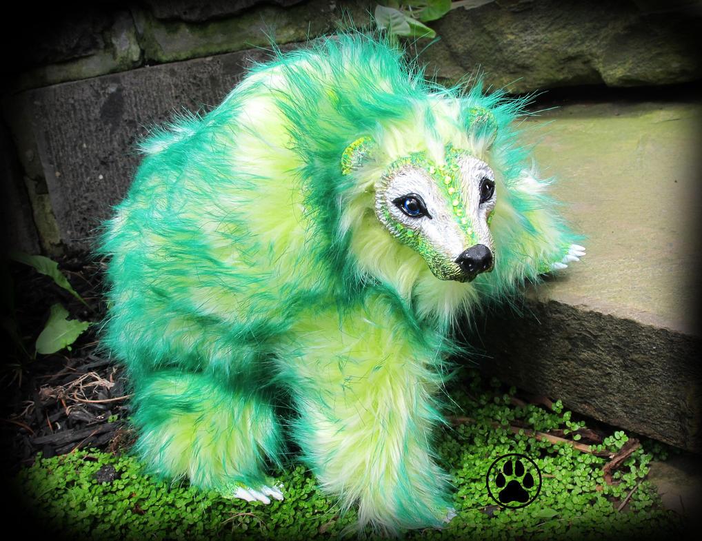 SOLD Rue the citrus bear poseable art doll! by CreaturesofNat