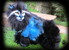 SOLD Caeruleo the blue fire lion! by CreaturesofNat