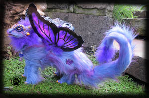 SOLDButterfly dragon commission poseable art doll. by CreaturesofNat
