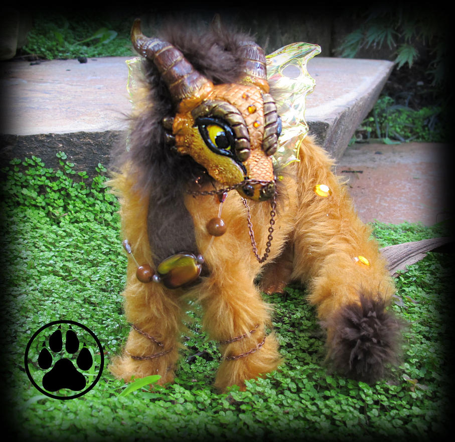 SOLD Redox the baby rust dragon poseable artdoll! by CreaturesofNat