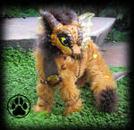 SOLD Redox the baby rust dragon poseable artdoll!