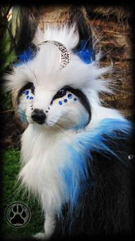SOLD Nadir the celestial fox poseable art doll!