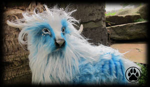 SOLD Serac the glacial caribou poseable art doll!