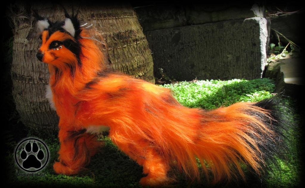 SOLD Solar the sun fox poseable art doll OOAK! by CreaturesofNat