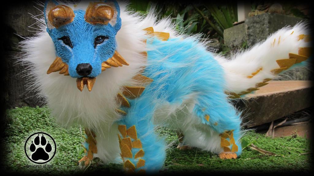 SOLD Zinogre x Wolf hybrid poseable artdoll OOAK by CreaturesofNat
