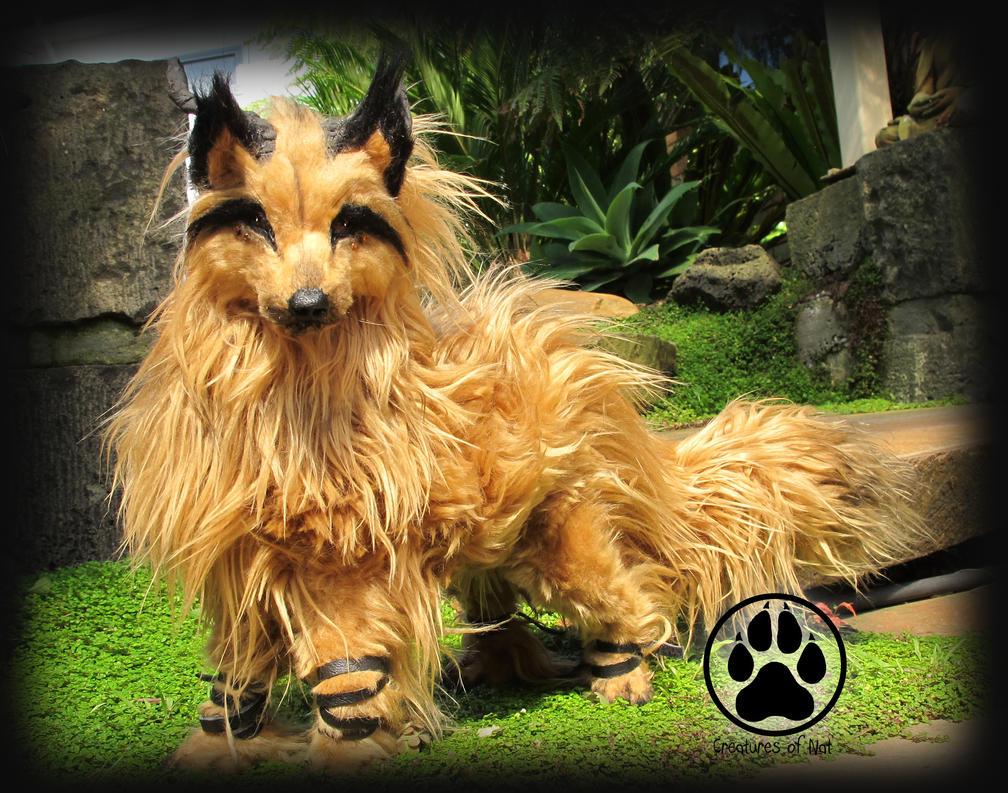SOLD Wolf commission poseable artdoll OOAK by CreaturesofNat