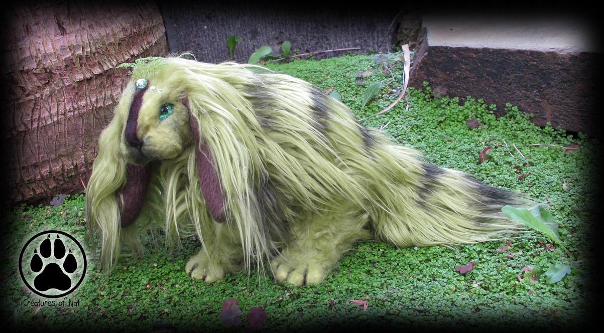 SOLD Rhiz the lichen bunny poseable artdoll OOAK! by CreaturesofNat