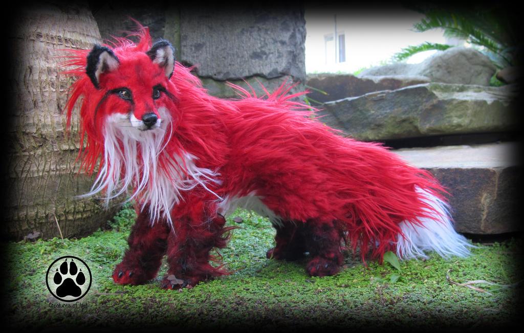 SOLD fox commission poseable artdoll OOAK. by CreaturesofNat