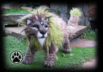SOLD Izar the sacred forest lion poseable art doll