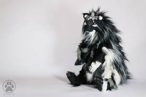 SOLD Selene the Moon Bear poseable art doll OOAK. by CreaturesofNat