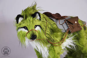 SOLD Wolf commission with saddle poseable art doll by CreaturesofNat