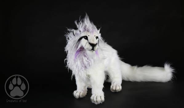SOLD Purple white lion commission artdoll!