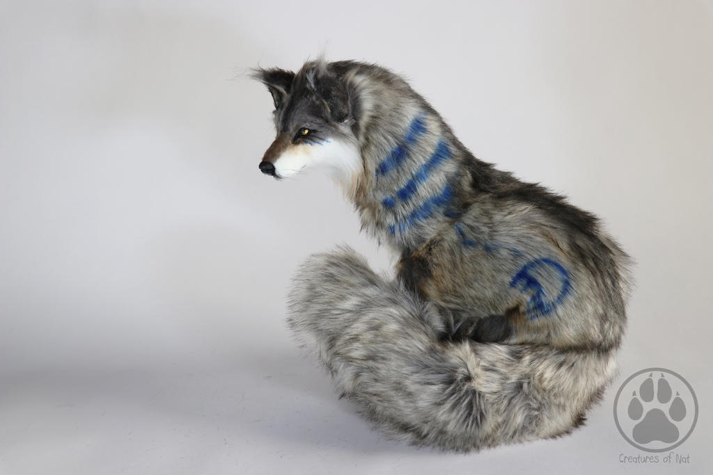 Kupo Rain Dance Wolf poseable art doll OOAK by CreaturesofNat