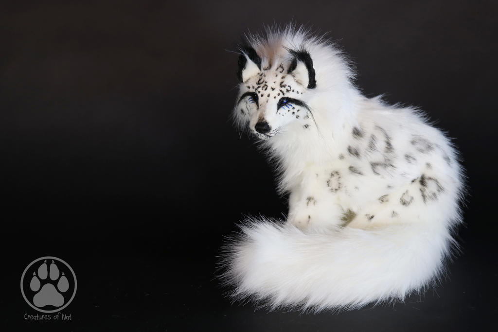 SOLD Snow Leopard Wolf Commission poseable artdoll by CreaturesofNat
