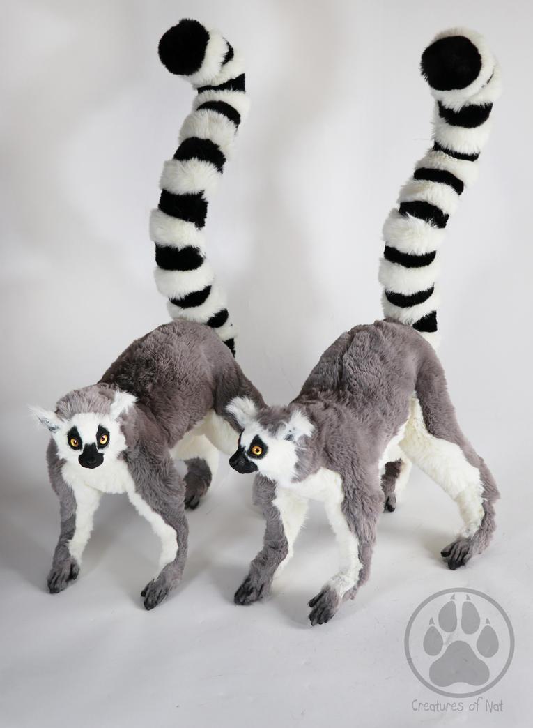 SOLD Ring tialed Lemur commission  artdoll ooak. by CreaturesofNat