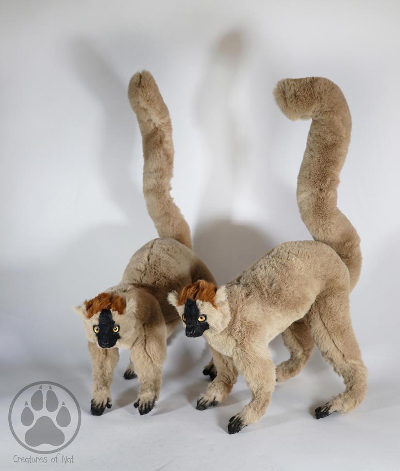 SOLD Red Fronted Lemurs artdoll ooak by CreaturesofNat