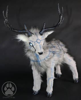 Olmec the Ancient Ice Stag poseable artdoll