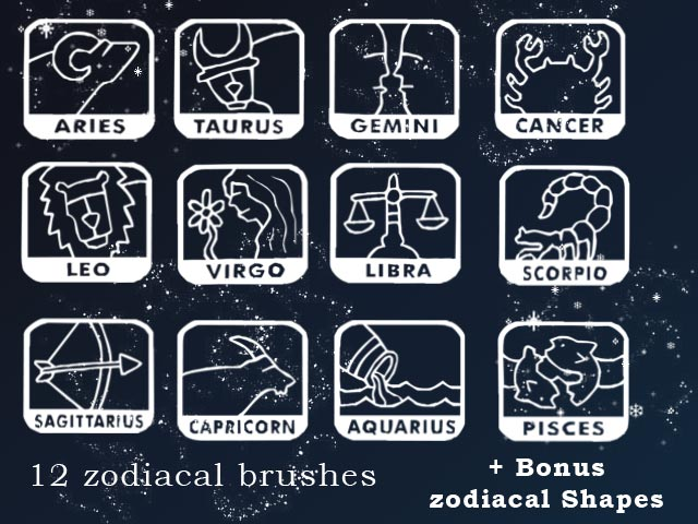 Zodiacal brushes set by AnastasieLys