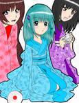 Mayu, Aoko, and Koharu