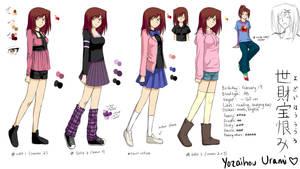 Yozaihou Urami Character Sheet 1 by suishouyuki