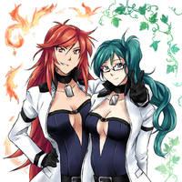 Commission - Homura and Aisha by suishouyuki
