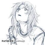 Sketch 10-2018 Haruka by suishouyuki