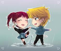 Commission - Dancing in the Rain by suishouyuki