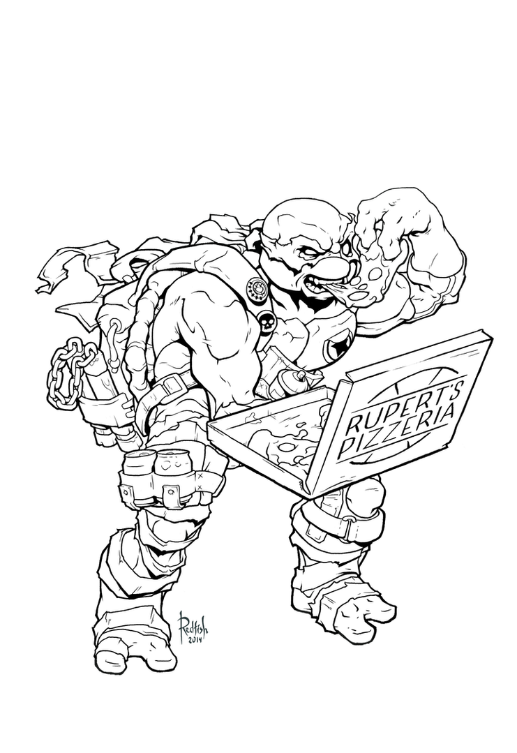 Michelangelo Lineart by AlexRedfish