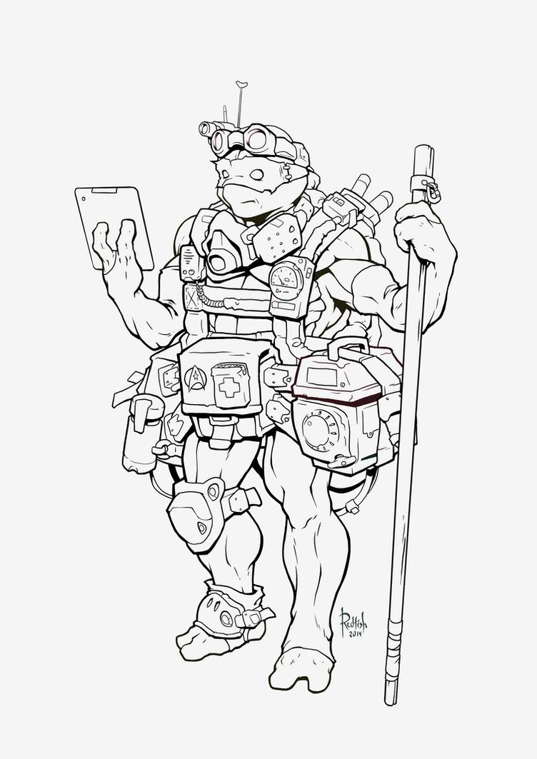 Donatello lineart by AlexRedfish