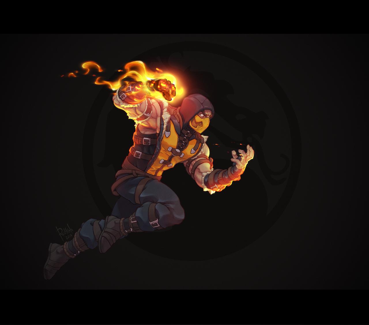 Mortal Kombat Scorpion by AlexRedfish