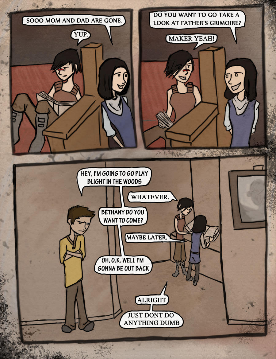 Kid Hawke Comic page 3 by B-Rhombus