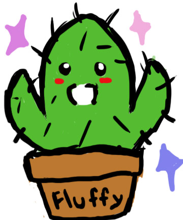 DevAcad: Fluffy the cactus by ibitecandy