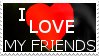 I love my friends stamp by FR0STBYTE000
