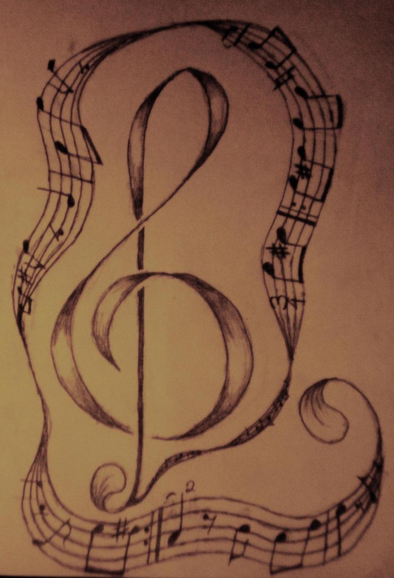Music Note Tattoo by ~Dartedrose on deviantART