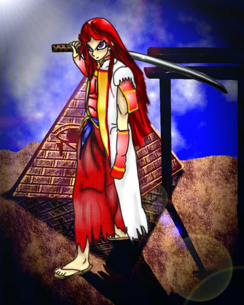 Atemu as Kyo by KenshinKyo