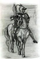 drawing class knight on horse by KenshinKyo
