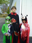 the 3 kids trunk or treating