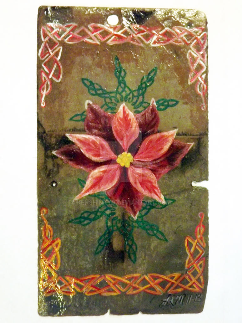 Celtic knots and Poinsettia by KenshinKyo