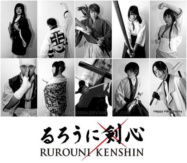Rurouni Kenshin - Live action group shot by akagii2004