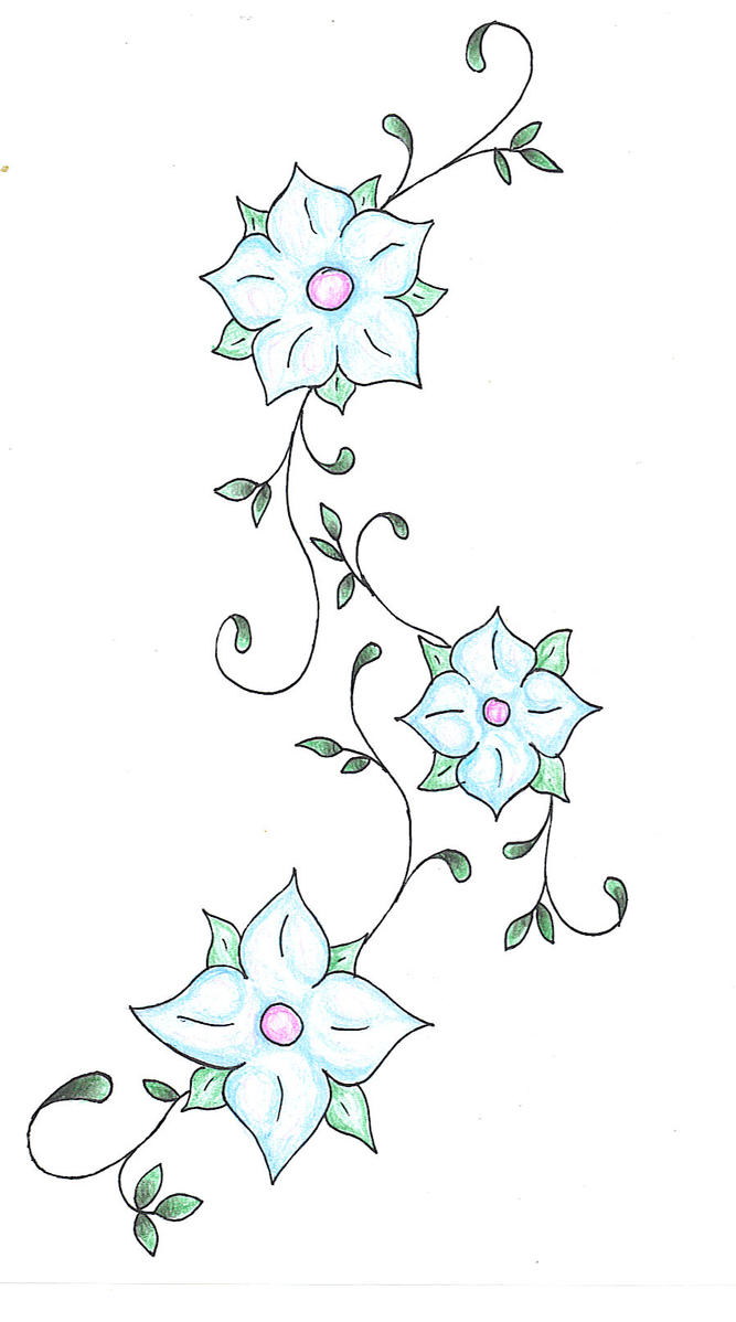 Flower and vines by mybeautifulsickness on DeviantArt
